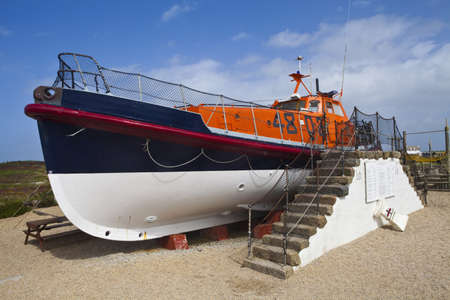 lifeboat: A Lifeboat at Lands End in Cornwall