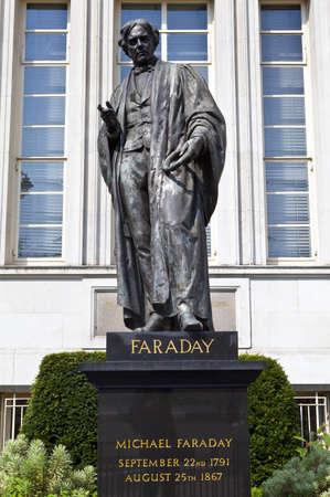Michael Faraday Statue in London Stock Photo - 15156808