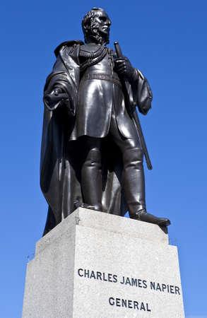 Charles James Napier Statue in Trafalgar Square Stock Photo - 15169089