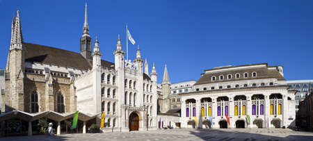 guildhall: London Guildhall and the Guildhall Art Gallery in London.