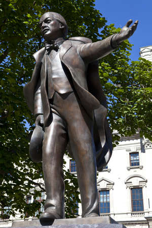 Statue of former British Prime Minister David Lloyd George in London. Stock Photo - 15156807