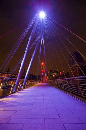 footbridge: Golden Jubilee Footbridge in London