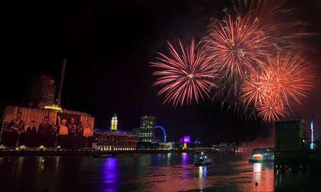 2012 Thames Festival Fireworks in London Stock Photo - 15156800