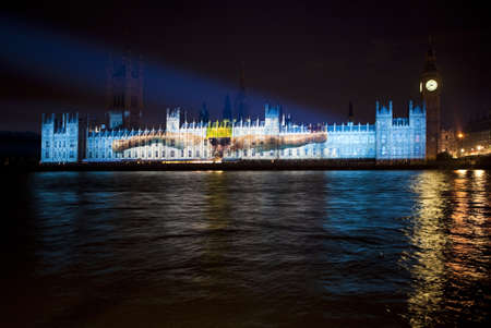 Olympics Projection on the Houses of Parliament Stock Photo - 15156795