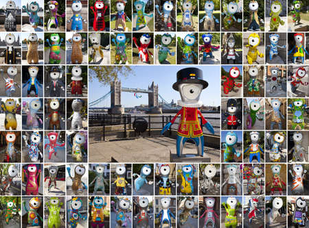 Wenlock and Mandeville Olympics Montage in London Stock Photo - 15156829