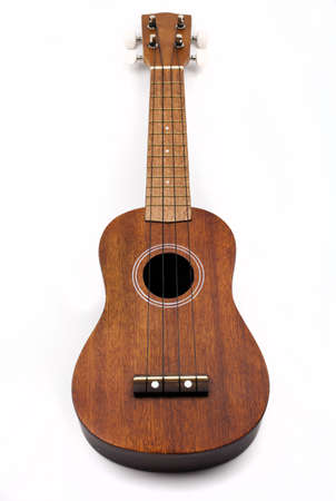 acoustic ukulele: Ukulele on a white background Stock Photo
