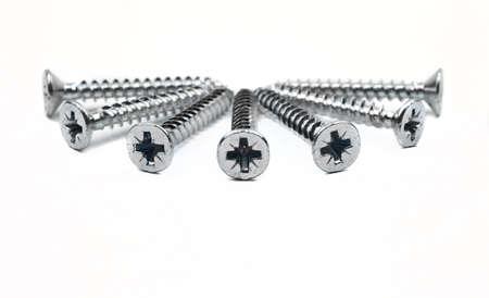 screw: Screws on a white backrgound