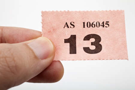 fayre: Holding a raffle ticket