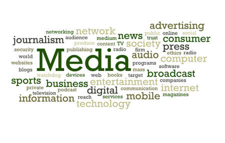 Words associated with the Media world