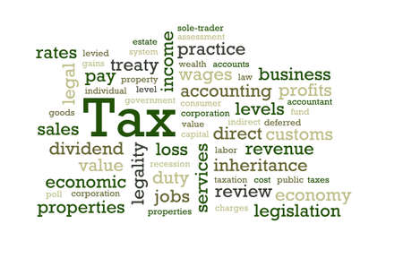 Words associated with Tax Stock Photo
