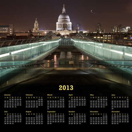 A London 2013 Calendar featuring St Pauls Cathedral photo
