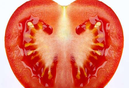 Close up of a Tomato slice.