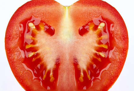 close up: Close up of a Tomato slice.