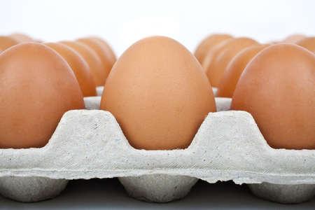 vitamin d: Close-up of a carton of eggs.