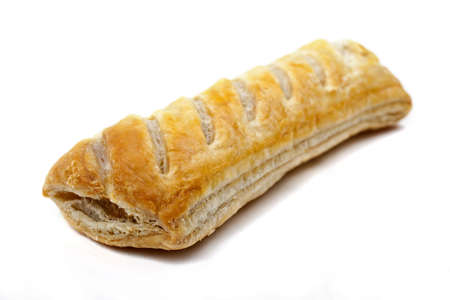 puff: Sausage Roll on a white background.