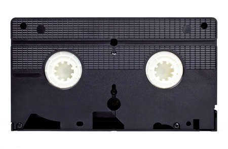 recorded: An old style Video Tape on a white background.