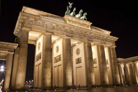 brandenburg gate: The magnificent Brandenburg Gate in Berlin.
