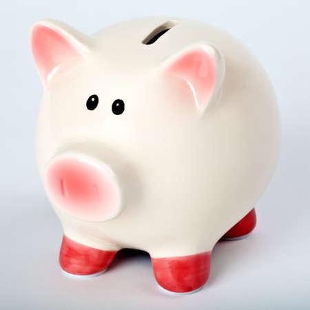 A Piggy Bank over a plain background