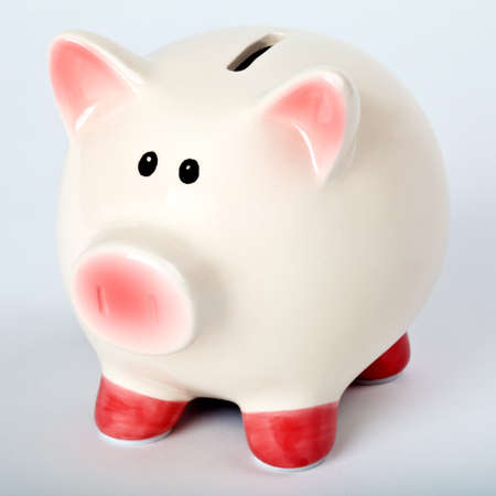 A Piggy Bank over a plain background  photo