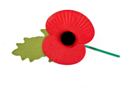 Poppy to commemorate the Commonwealth War Deaths in both World Wars  photo