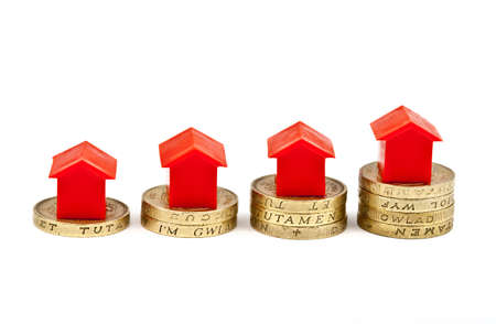 Saving Investment for a house or property Stock Photo - 16632726