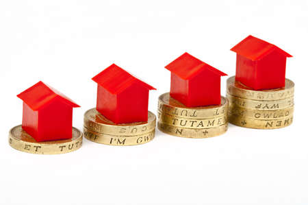 investing: Saving Investment for a house or property  Stock Photo