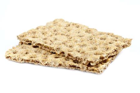 crispbread: Due croccanti su un semplice sfondo bianco.