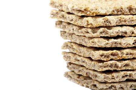 crispbread: Colpo astratta di un mucchio di fette biscottate.