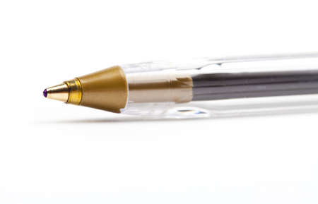 biro: Biro Pen over a plain white background. Stock Photo