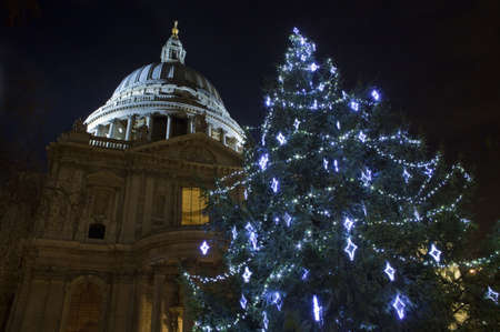 St  Pauls Cathedral at Christmas in London photo