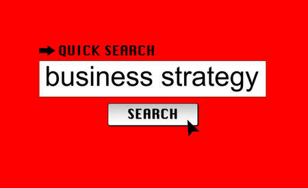 Searching for business strategy on a search engine photo