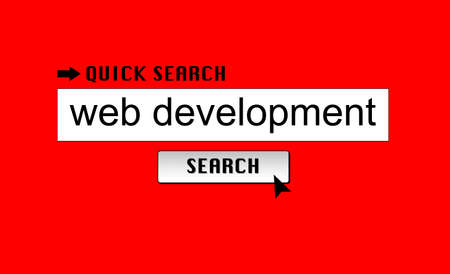 Searching for web development on a search engine Stock Photo - 17271906