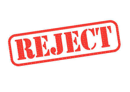 A Reject stamp over a white background  photo