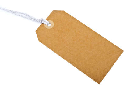 luggage tag: Tag isolated over a white background.