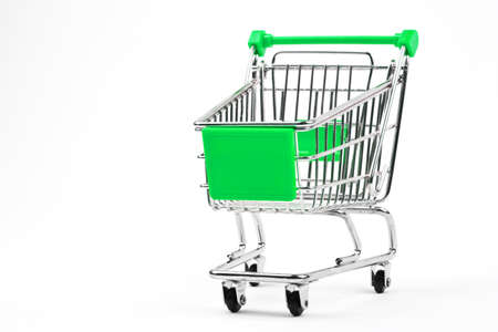 Shopping Trolley over a plain white background. Stock Photo - 17519581