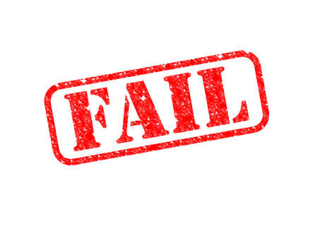 A 'Fail' Stamp over a white background. Stock Photo - 17519626
