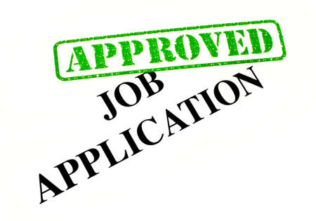 Close-up of an 'Approved' Job Application letter. Stock Photo - 17675857