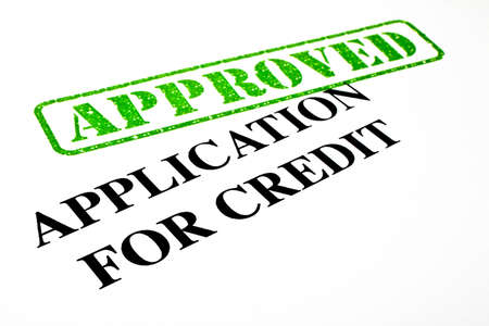 Close-up of an 'Approved' Credit Application letterhead. Stock Photo - 17675860