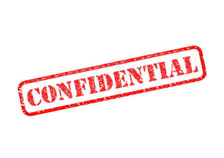 covert: CONFIDENTIAL Rubber Stamp Stock Photo