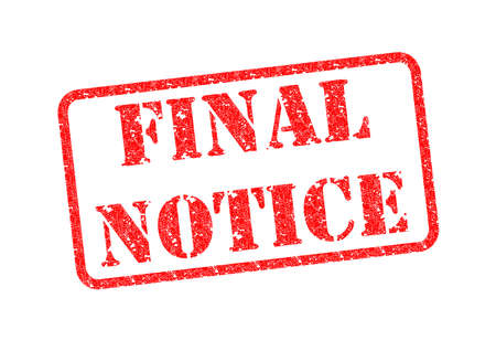 FINAL NOTICE Rubber Stamp Stock Photo - 17675891