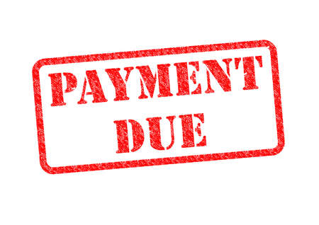 due: PAYMENT DUE Rubber Stamp