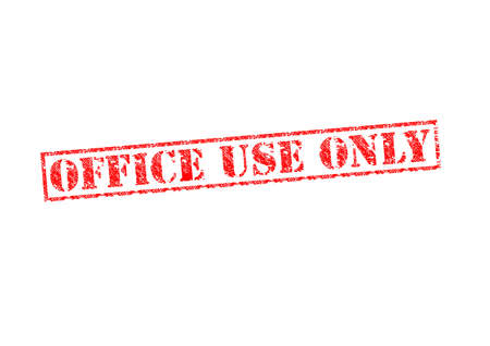 OFFICE USE ONLY red rubber stamp over a white background. Stock Photo - 17675867