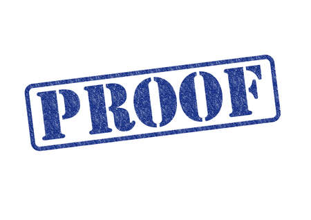 PROOF blue rubber stamp over a white background. Stock Photo - 17675885