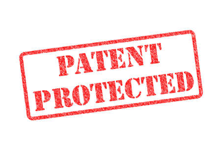safeguarded: PATENT PROTECTED red rubber stamp over a white background.