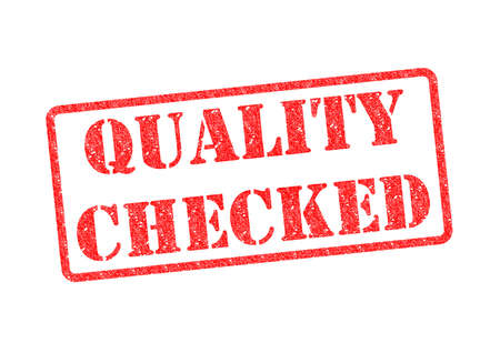 QUALITY CHECKED red rubber stamp over a white background. Stock Photo - 17675895