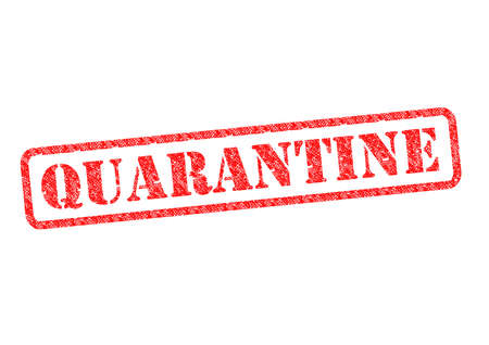 QUARANTINE red rubber stamp over a white background. Stock Photo - 17675876