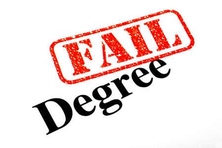 Failed University Degree. Stock Photo - 17675911