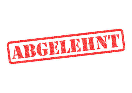 refused: Abgelehnt (Rejected) StempelStamp over a white background. Stock Photo