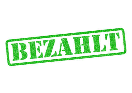 zahlen: Bezahlt (Paid) StempelStamp over a white background.