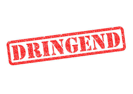 stempel: Dringend (Urgent) StempelStamp over a white background. Stock Photo